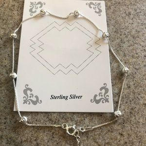 Jewelry - 925 Sterling Silver ankle bracelet